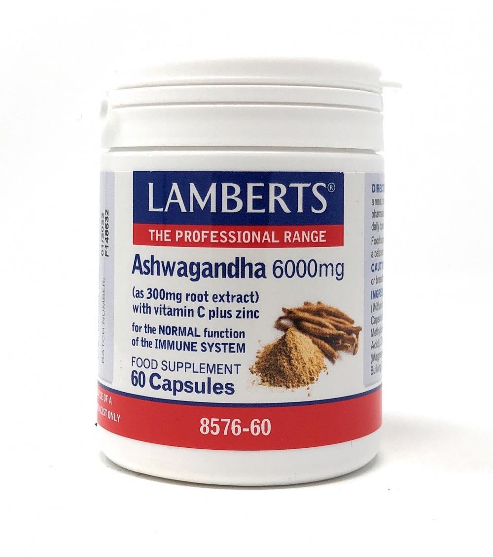 Lamberts Healthcare Ltd. Ashwagandha 6000mg 60 veg Kapseln (vegan)