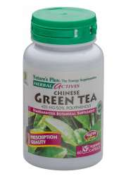 Natures Plus Chinese Green Tea 400 mg 60 veg. Kapseln (vegan)