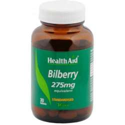 Health Aid Bilberry (Heidelbeere) 275mg equivalentstandardised 30 Tabletten (vegan)