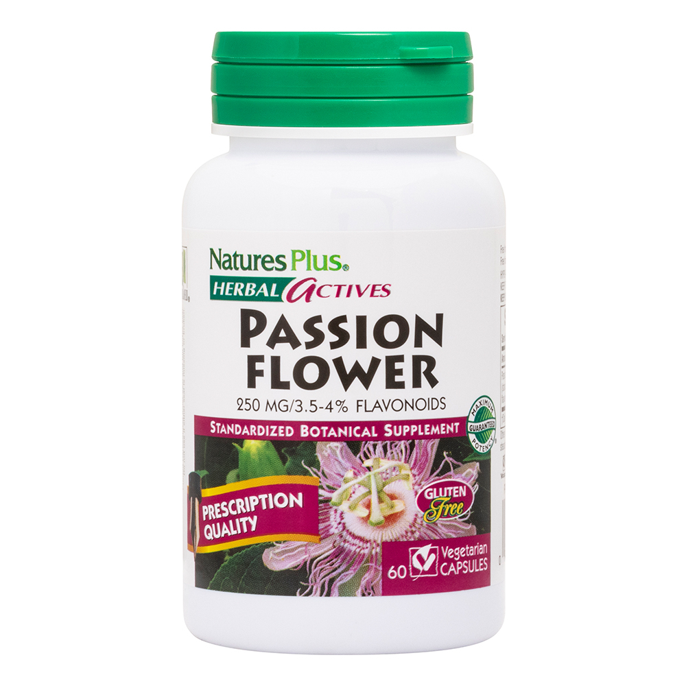 Natures Plus Herbal Actives Passion Flower 250mg (Passionsblume) 60 veg. Kapseln