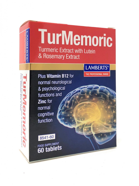 Lamberts Healthcare Ltd. TurMemoric (Kurkuma, Lutein, Rosmarin) 60 Tabletten (vegan)