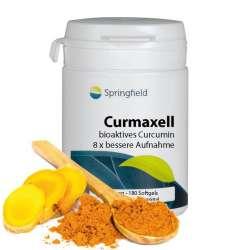 Springfield Curmaxell, Bio-Activ Curcumin 250mg 180 Softgels (101g)