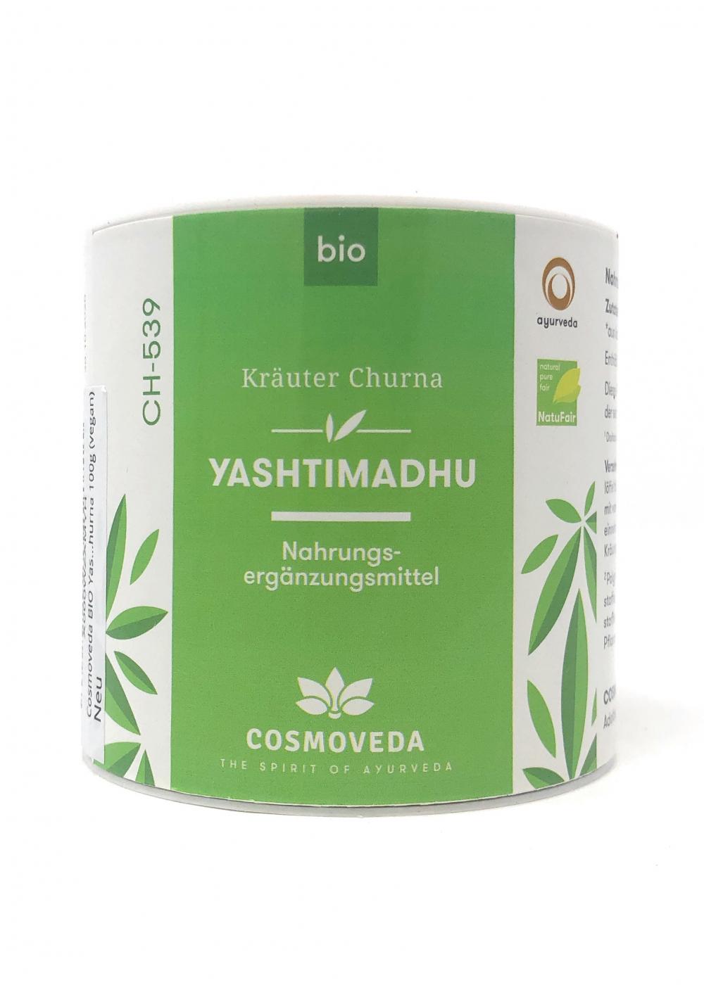 Cosmoveda BIO Yashtimadhu Churna (Süßholz Wurzelpulver) 100g Dose (vegan)