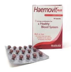 HealthAid Haemovit® Plus Blister (Iron, Vit B12, Vit B6, Folic Acid ++) 30 Kapseln