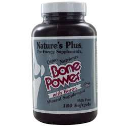 Natures Plus Bone Power Calcium with Boron 180 Softgels (400g)