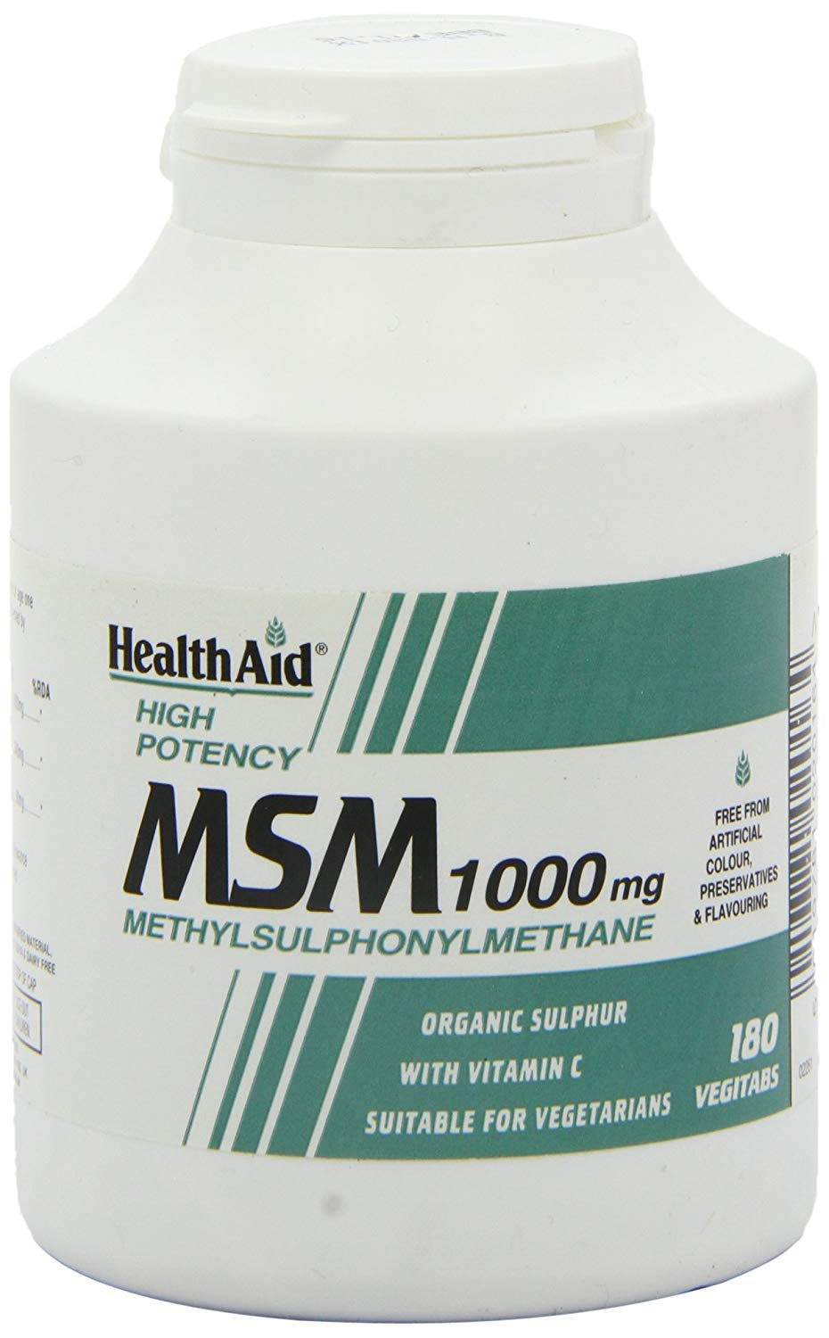 HealthAid MSM 1000mg  (Methyl-Sulfonyl-Methan) 180 Tabletten
