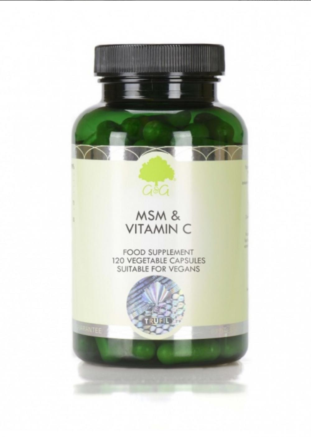 G&G Vitamins MSM & Vitamin C 120 veg. Kapseln (84g) (vegan)