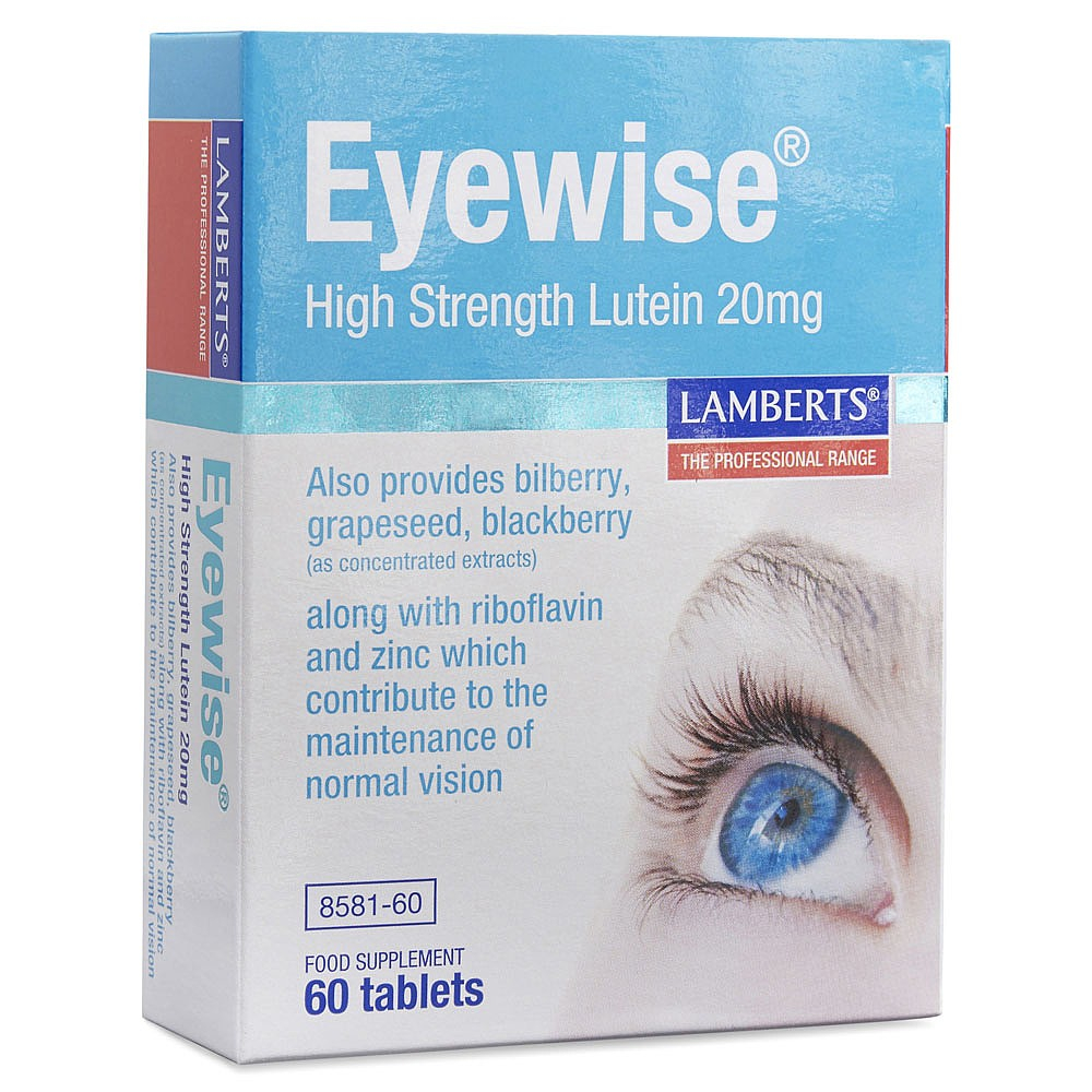 Lamberts Healthcare EYEWISE® High Strenght Lutein 20mg 60 Tabletten