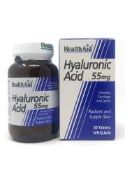 HealthAid Hyaluronic Acid 55mg (Hyaluronsäure) 30 Tabletten (vegan)