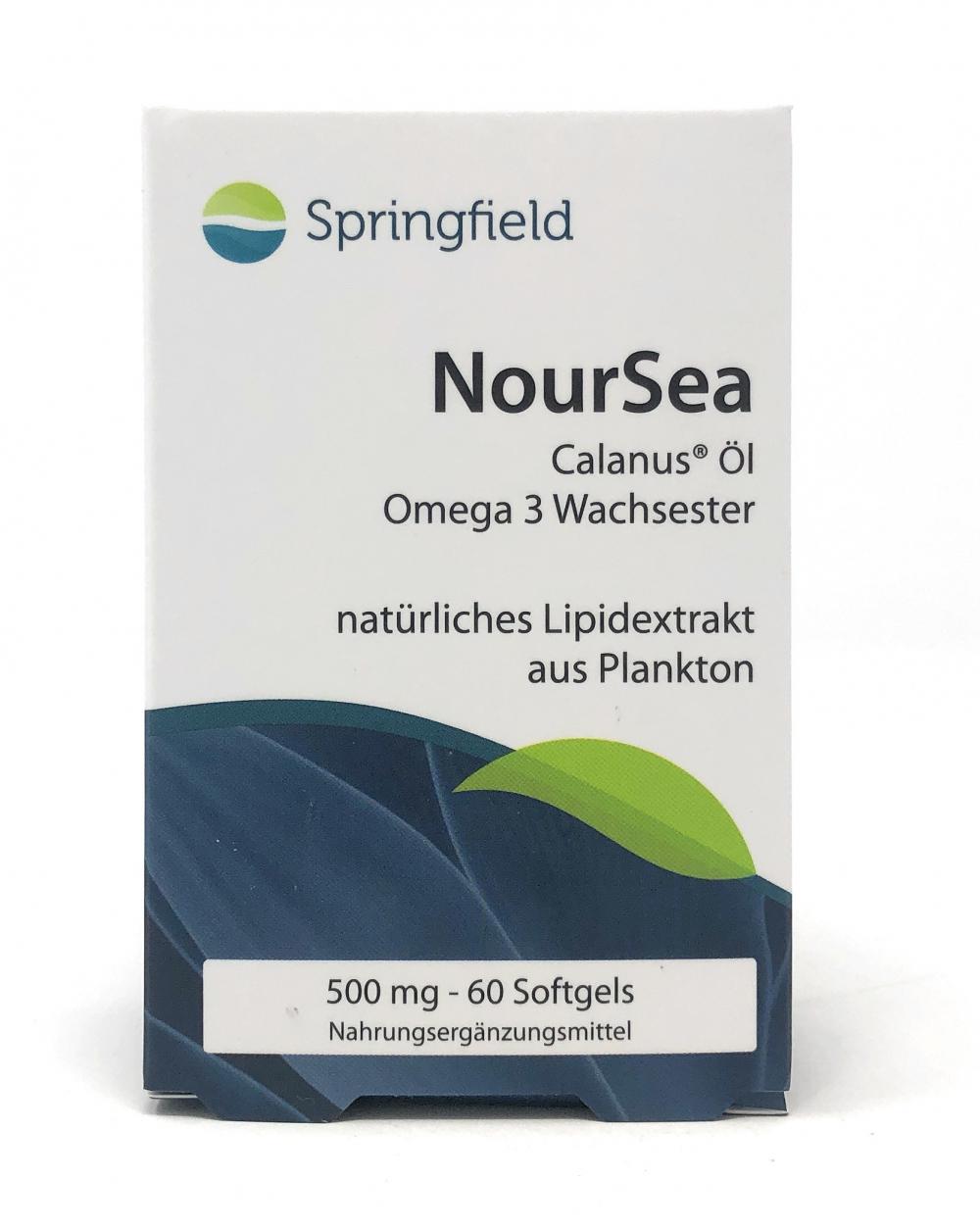 Springfield Nutraceuticals NourSea Calanus-Öl Omega-3 Wachsester 60 Fisch-Softgels (44g)