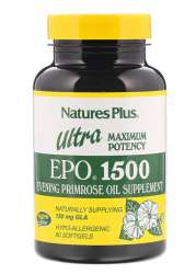 Natures Plus Ultra EPO 1500 (150mg GLA Nachtkerzenöl) 60 Softgels