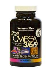 Natures Plus Ultra Omega 3/6/9® (Fettsäuren) 90 Softgels (152,2g)