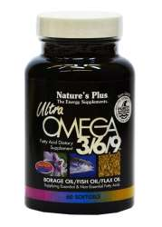 Natures Plus Ultra Omega 3/6/9® (Fettsäuren) 60 Softgels (99,2g)