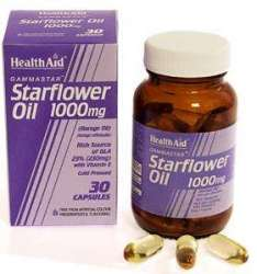 Health Aid Gamma Starflower Oil 1000mg (23% GLA) (Borretschöl) 30 Kapseln