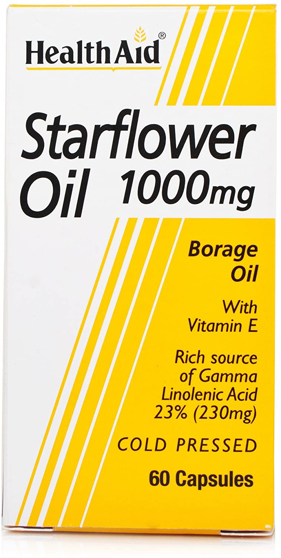 HealthAid Gamma Starflower Oil 1000mg (23% GLA) (Borretschöl) 60 Kapseln