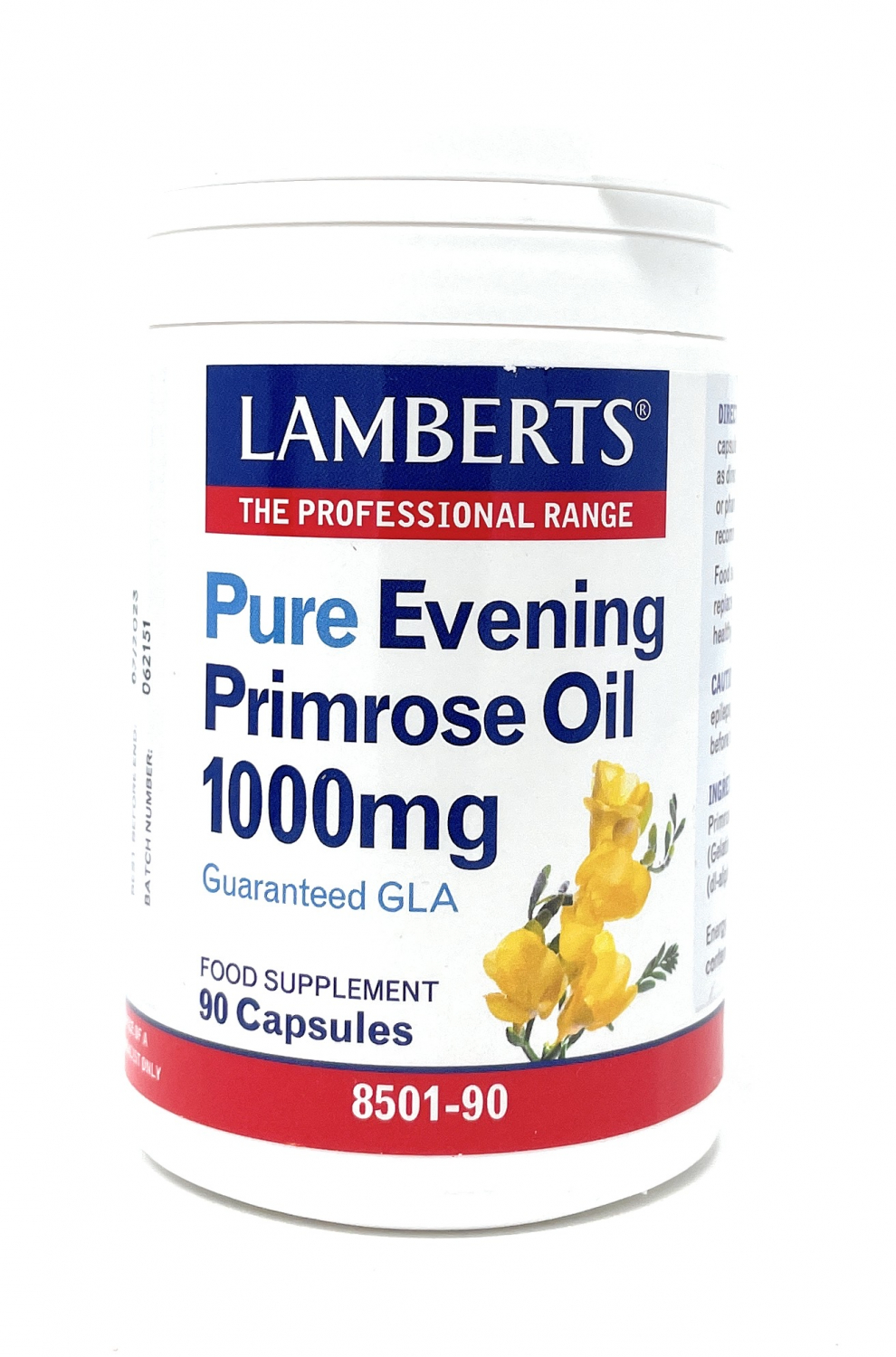 Lamberts Healthcare Pure Evening Primrose Oil [Nachtkerzenöl] 1000mg 90 Kapseln