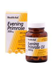 HealthAid Evening Primrose Oil 500mg (Nachtkerzenöl) + Vitamin E 30 Weichgelatine-Kapseln