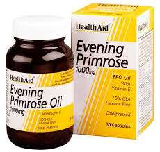 HealthAid Evening Primrose Oil 1000mg (Nachtkerzenöl) + Vitamin E 30 Weichgelatine-Kapseln