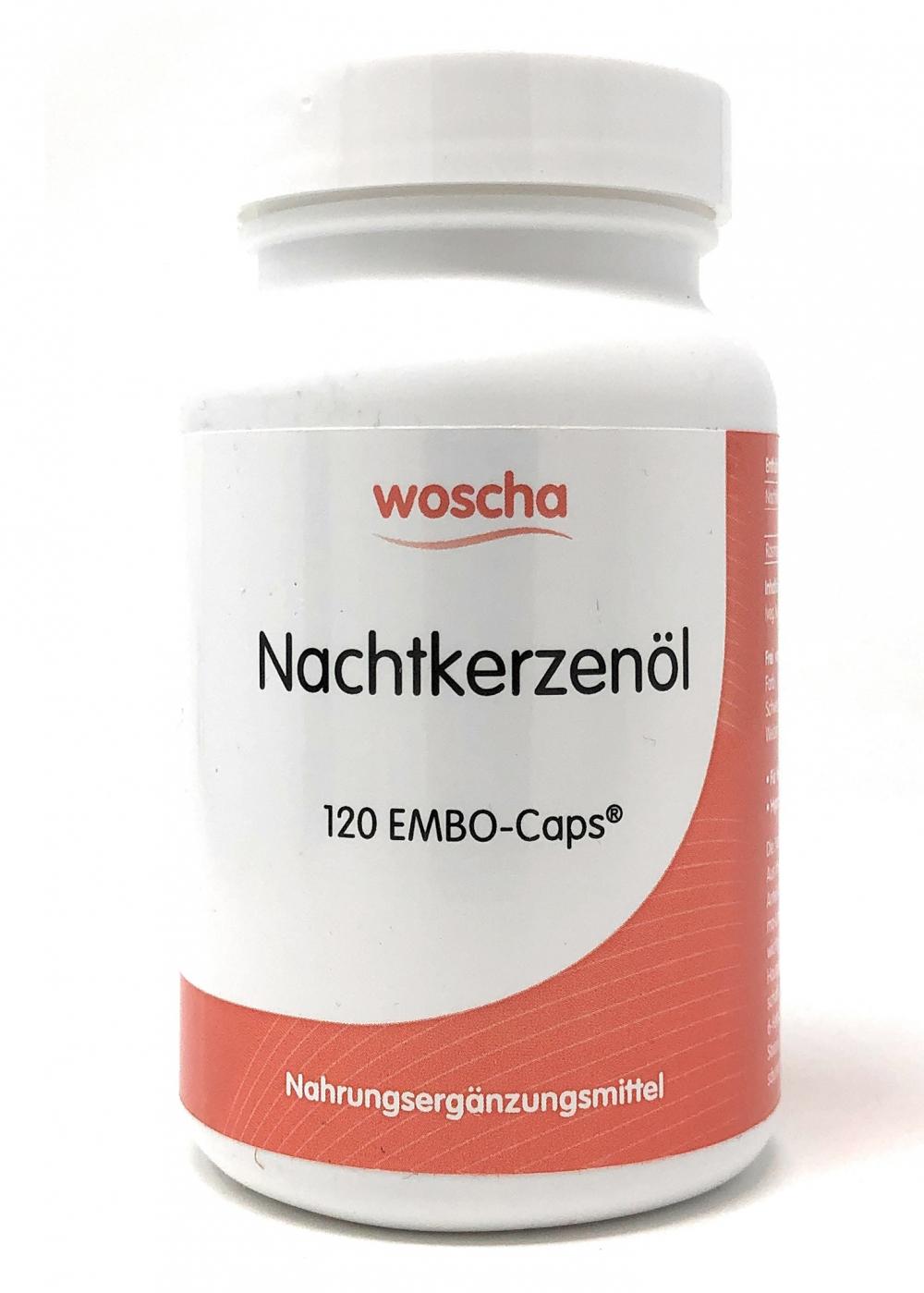 woscha Nachtkerzenöl 120 Embo-Caps (74g)(vegan)
