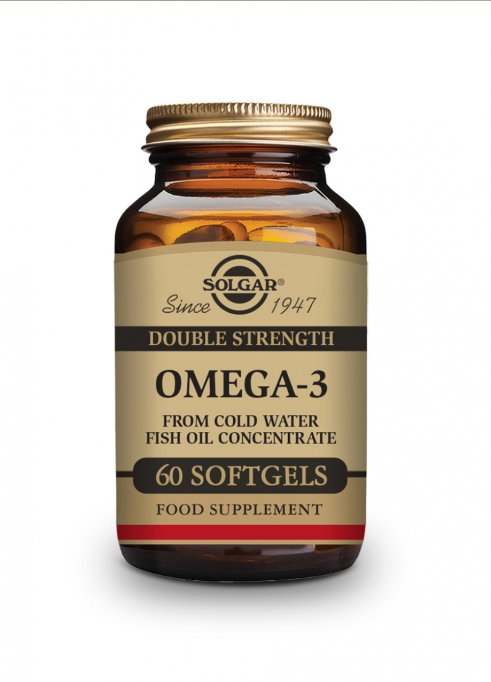 Solgar Double Strenght Omega-3 Fish Oil Concentrate 60 Softgels (96g)