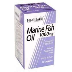 Health Aid Marine Fish Oil 1000mg (Fischöl,t E, EPA, DHA) 30 Kapseln