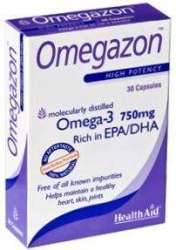 Health Aid Omegazon (1250mg Fischöl m. EPA+DHA) 30 Softgels