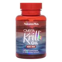 Natures Plus Omega Krill Oil 600mg 60 Flüssig-Kapseln (56,3g)