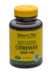 Nature's Plus Citrimax[TM] 1000 Standardized Garcinia Cambogia 60 Tabletten (85g)