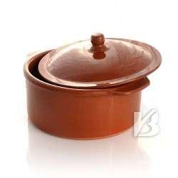 Alfareria Padilla Cazuela Keramik-Topf mit Deckel, traditionel, braun 22x10cm