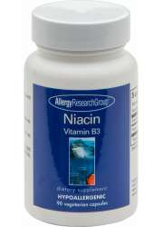Allergy Research Niacin (Vitamin B3) 250mg 90 veg. Kapseln