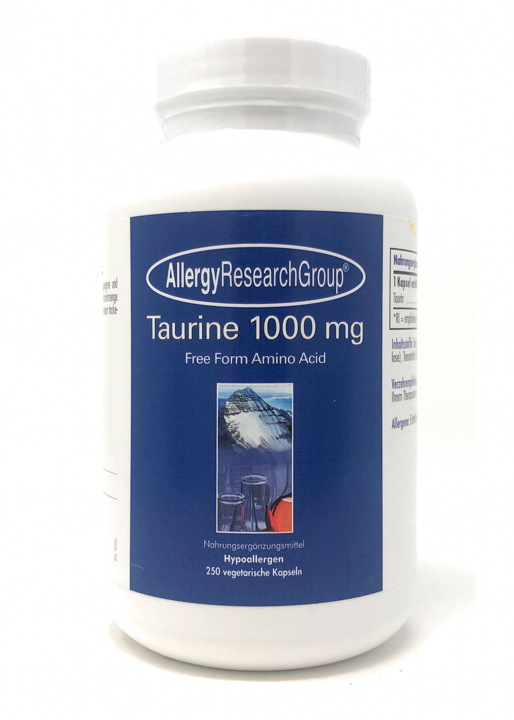 Allergy Research Group Taurine 1000mg 250 veg. Kapseln