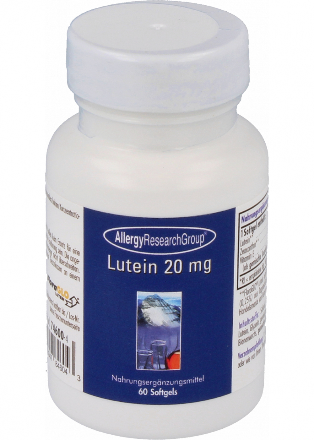 Allergy Research Group Lutein 20 mg 60 Softgels