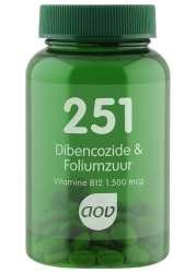 AOV 251 Dibencozide & Foliumzuur (Dibencozid (B12) + Folsäure)  60 Lutschtabletten