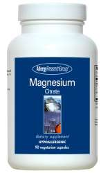 Allergy Research Magnesium Citrate 170mg 90 veg. Kapseln (113g)