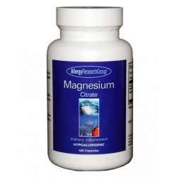 Allergy Research Group Magnesium Citrate 170mg 180 veg. Kapseln (228,6g)