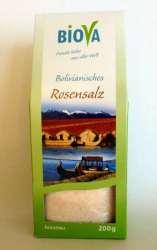Biova Gourmetsalz Bolivianisches Rosensalz Feinstreu 0,1-0,3mm 200g
