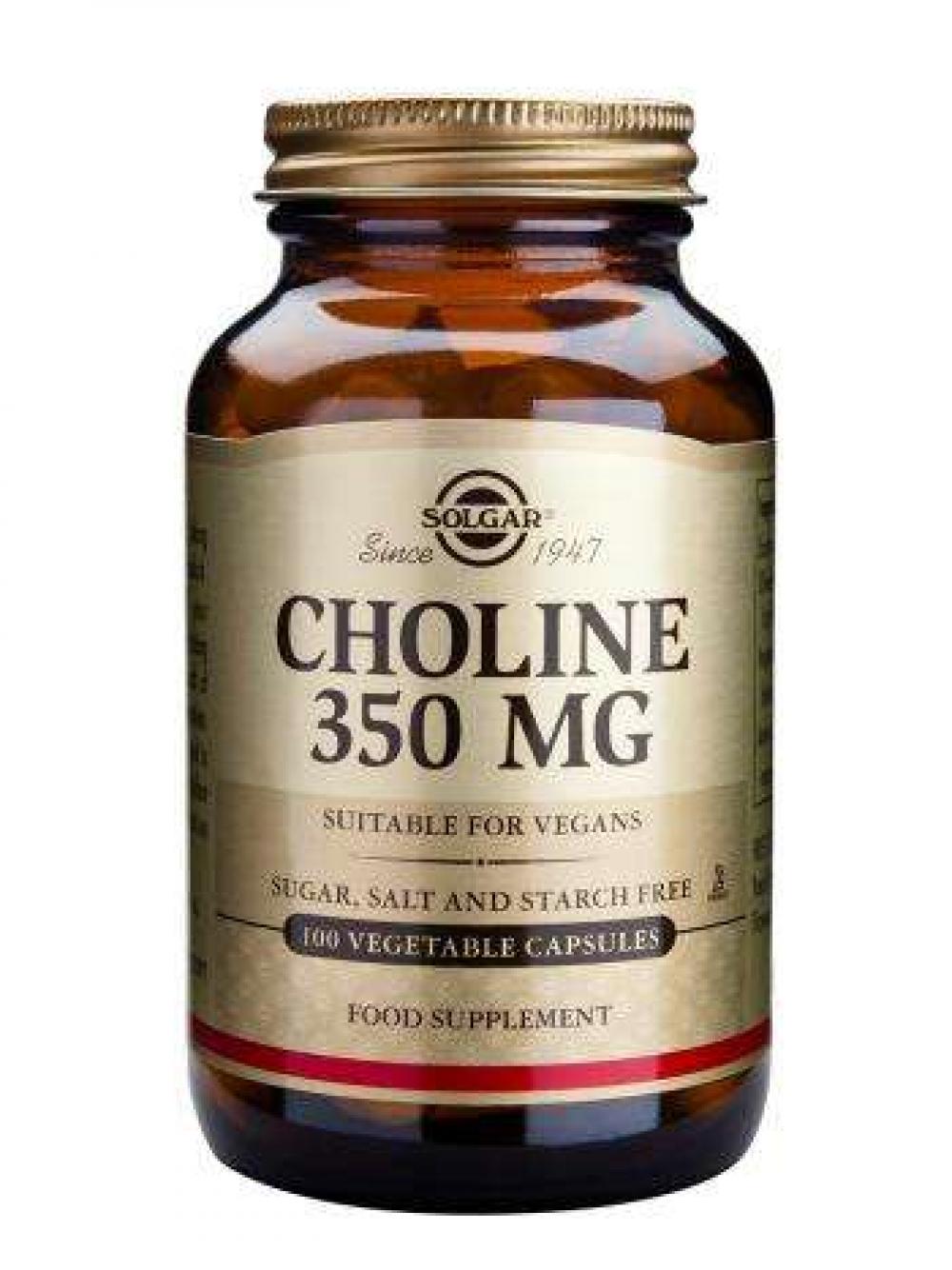 Choline 350 MG (vegan) 100 veg. Kapseln SO (vegan)