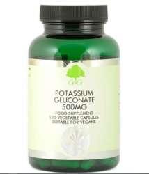 G&G Vitamins Potassium Gluconate 500mg (Kaliumgluconat) 120 veg. Kapseln (vegan)