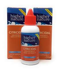 Higher Nature Citricidal Bio-Grapefruitkern-Extrakt (vegan) 2 x 45ml Flasche (vegan) 2er Pack