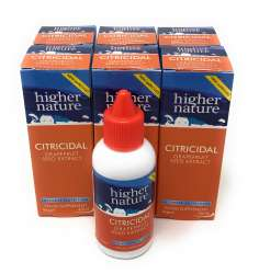 Higher Nature Citricidal Bio-Grapefruitkern-Extrakt (vegan) 6 x 45ml Flasche (vegan) 6er Pack