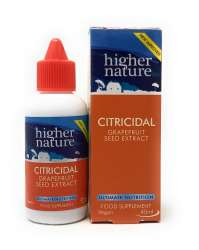 Higher Nature Citricidal Bio-Grapefruitkern-Extrakt (vegan) 45ml Flasche (vegan)