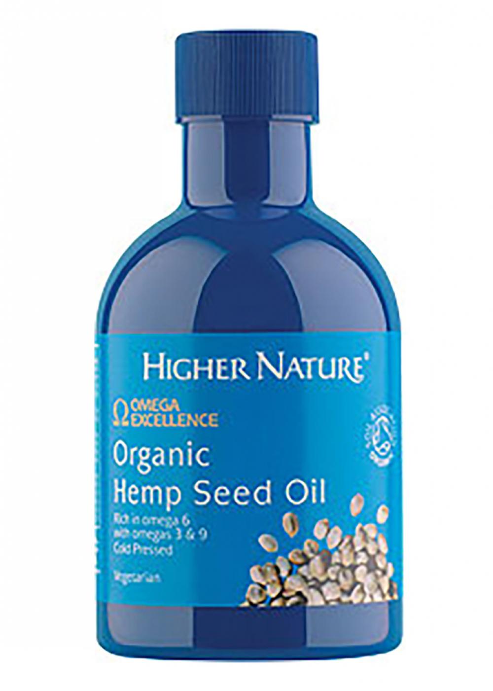Higher Nature Organic Hemp Seed Oil  (Bio-Hanfsamenöl) 200ml (vegan)