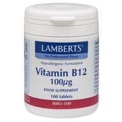 Lamberts Healthcare Vitamin B12 100mcg 100 Tabletten
