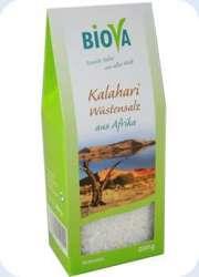 Biova Gourmetsalz Kalahari Wüstensalz Granulat 200g Packung