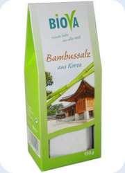 Biova Gourmetsalz Bambussalz (gebranntes Meersalz) aus Korea 150g