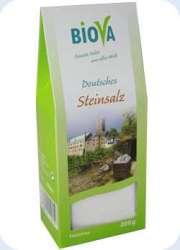 Biova Gourmetsalz Deutsches Steinsalz Feinstreu 200g Packung