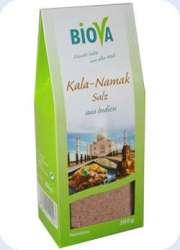 Biova Gourmetsalz Kala-Namak-Salz (Schwarzsalz) Feinstreu 200g Packung