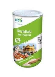 Biova Gourmetsalz Kristallsalz aus Pakistan (Salt Range) fein 0.3-0.5mm 800g Dose