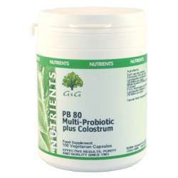 G&G Vitamins PB80 Multiprobiotics + Colostrum 50 veg. Kapseln