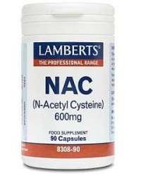 Lamberts NAC (N-Acetyl-Cysteine 600mg) 90 Kapseln